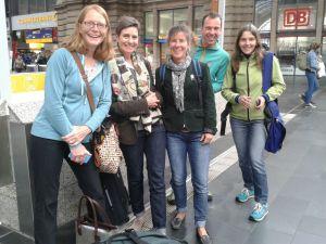 Heather Saunders (left) departing for Hamburg